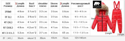 - -30 degree Russia Winter children's clothing girls clothes sets for new year's Eve boys parka jackets coat down snow wear -   jetcube