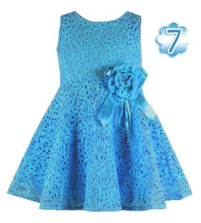 - 0-2 Years New Gift Summer Lace Vest Girls Dress Baby Girl Cotton Dress Chlidren Clothes Kids Party Clothing For Girls - Blue / 12M  jetcube