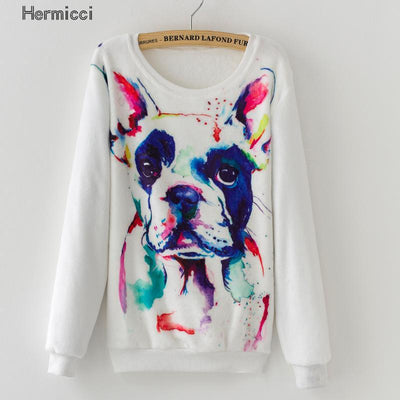 - 2016 Fashion Women Long Sleeve Casual Cashmere Pattern Sweaters and Pullovers Female Oversized Print Femme Winter Warm Sweaters -   jetcube