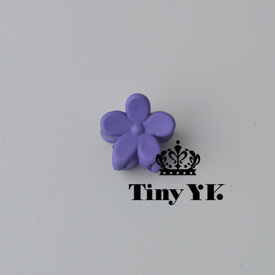 - 10 pcs New Fashion Baby Girls Small Hair Claw Cute Candy Color flower Hair Jaw Clip Children Hairpin Hair Accessories Wholesale - Royal Blue  jetcube