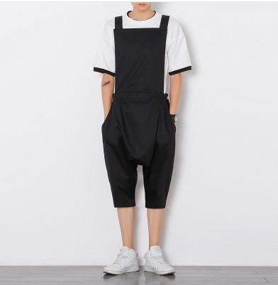 Lovely New Men Vintage Fashion Streetwear Hip Hop Casual Jumpsuit Cargo Pant Male Long Sleeve Overalls Jumpsuit Harem Trousers Cargo Pants Pants