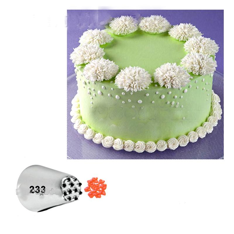 #233 Multi-Open Nozzle Decorating Mouth Grass Icing Nozzle Cupcake Decoration Tips Baking Tools KH056 - Jetcube