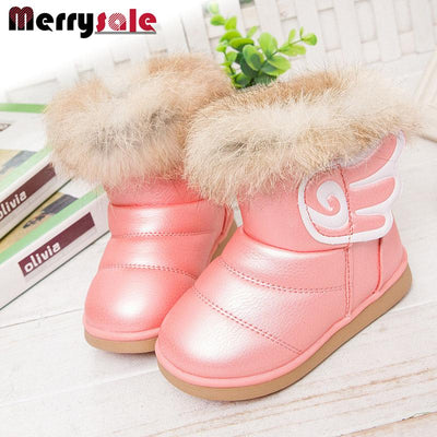 - 2016 fashion children shoes children boots snow boots girls boots cotton shoes leather -   jetcube