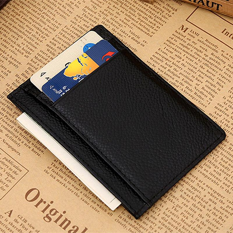 100% Genuine Leather Small Mini Ultra-thin Wallets Men Women Compact Handmade Wallet Cowhide Card Holder Coin Purse 115#