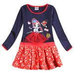 - 2-8y Girls party dresses nova kids wear hot selling children's clothing long sleeve fashion wedding girls dresses baby frocks - H6182Y NAVY / 3T  jetcube