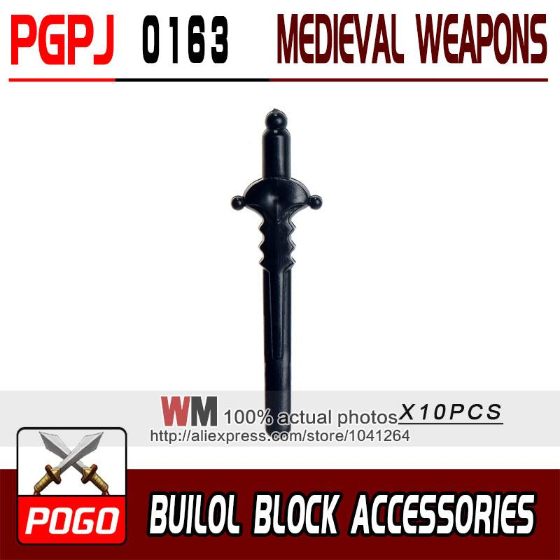 - 10pcs/lot Latest Rome Knight Weapon Sword Accessories Building Blocks Bricks Medieval Knight Weapons - PGPJ0163  jetcube