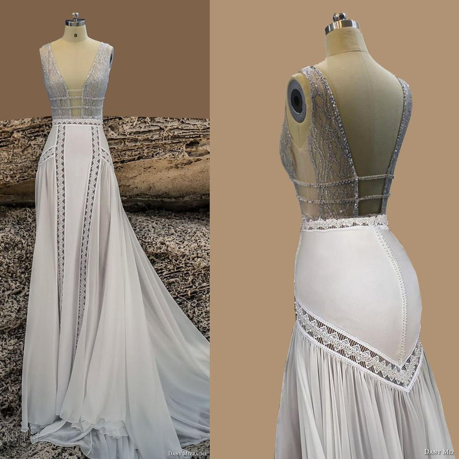 5bfeedb8ff Beach Wedding Dresses Sexy Chiffon A Line Vintage Boho Cheap Bridal Gowns  Vestidos De Novia Robe