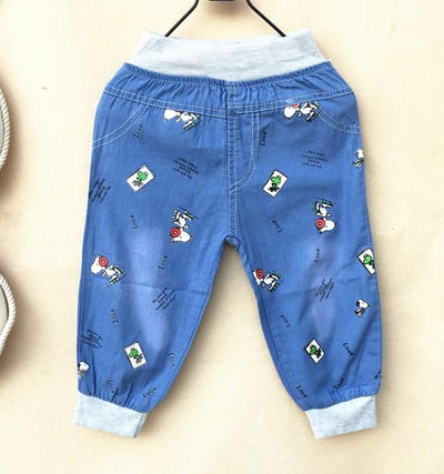 - (1piece /lot) 100% cotton 2015 new lucky trousers for children - Sky Blue / 12M  jetcube