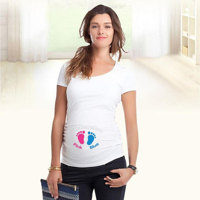 "- ""Peek a boo"" design Maternity Shirt specialized for pregnant women plus size European big size XXL -   jetcube"