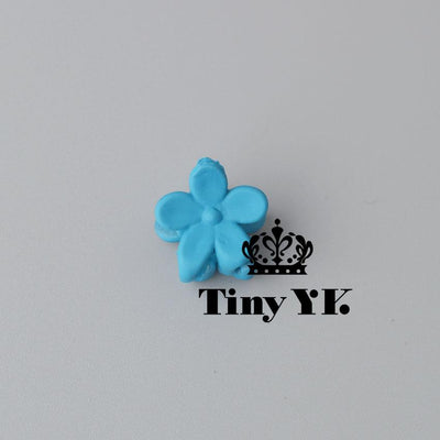 - 10 pcs New Fashion Baby Girls Small Hair Claw Cute Candy Color flower Hair Jaw Clip Children Hairpin Hair Accessories Wholesale - Dark Blue  jetcube