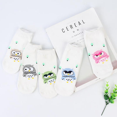 - % New 3D Emoji Sock Meias Summer Autumn Harajuku Owl Socks 3D Print Animal Women's Low Cut Ankle Socks Cat Printed Unisex sock -   jetcube