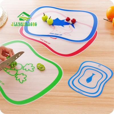 Monkey Store 1 Pc Flexible Kitchen Plastic Chopping Block Cutting Board Breadboard Non-slip Frosted Antibacteria Cutting Block