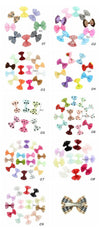 - 10 Pcs/ Lot Kids Mini Bow Whole Wrapped Safety Hair Clips Cute Solid Dot Stripe Printing Hairpins For Girls 731 -   jetcube