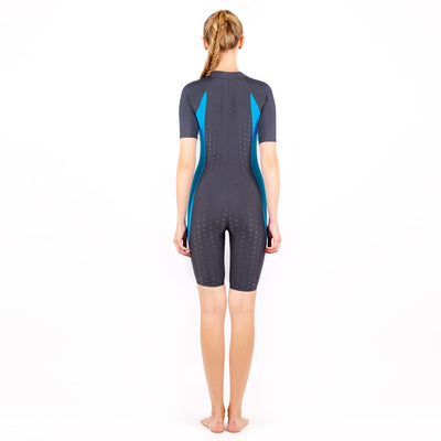 One Piece Training Racing Competition Athletic BodyBuilding Swimsuit Women Zipper Professional Plus Size Spandex Swimwear Paded