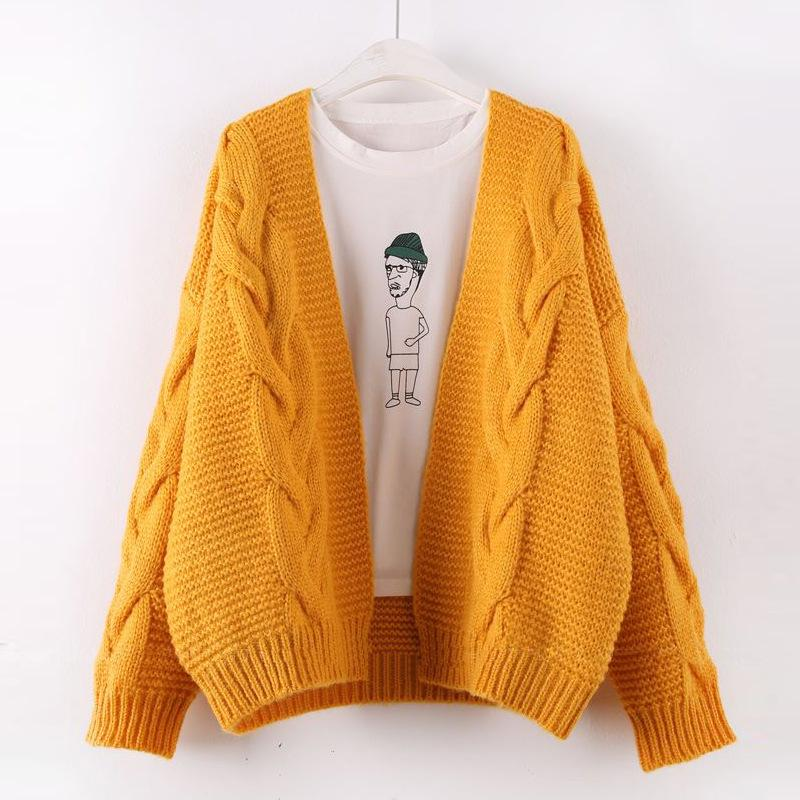 2017 Autumn Winter Fashion Women Long Sleeve Loose Knitting Cardigan Sweater Womens Knitted Female Cardigan Pull Femme Cardigans
