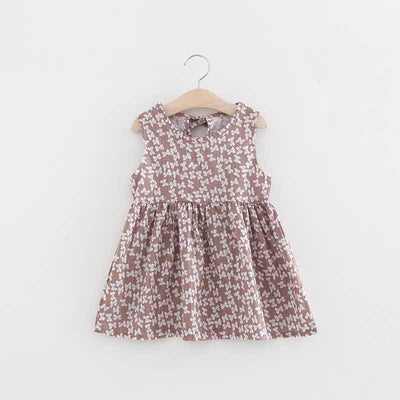 - 2-7y Girls Clothing Summer Girl Dress Children Kids Berry Dress Back V Dress Girls Cotton Kids Vest dress Children Clothes 2017 - brownbow / 2T  jetcube