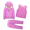 - 2-7 Years Baby Boys Girls Coats Brand 2017 Winter Boys Down Jackets Casual Snow Wear Girls Clothing Sets 3Pcs Outerwear & Coats - 3 / 24M  jetcube