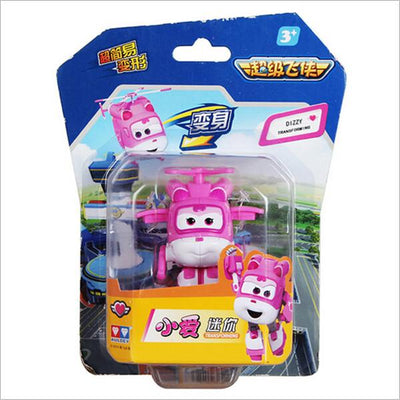 - (Lis)8 styles Super Wings Mini Planes Deformation Airplane Robot Action Changeable Toys action toy Super Wings - pink  jetcube