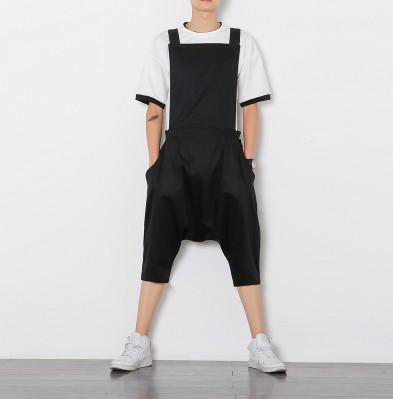 7b2e9c4a9e3 Helisopus Hiphop Loose Men s Jumpsuit Overalls Men Casual Jumpsuits Loose  Harem Pants Hip-Hop Low