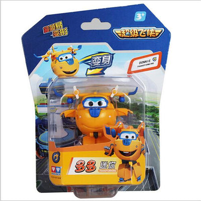 - (Lis)8 styles Super Wings Mini Planes Deformation Airplane Robot Action Changeable Toys action toy Super Wings - yellow  jetcube
