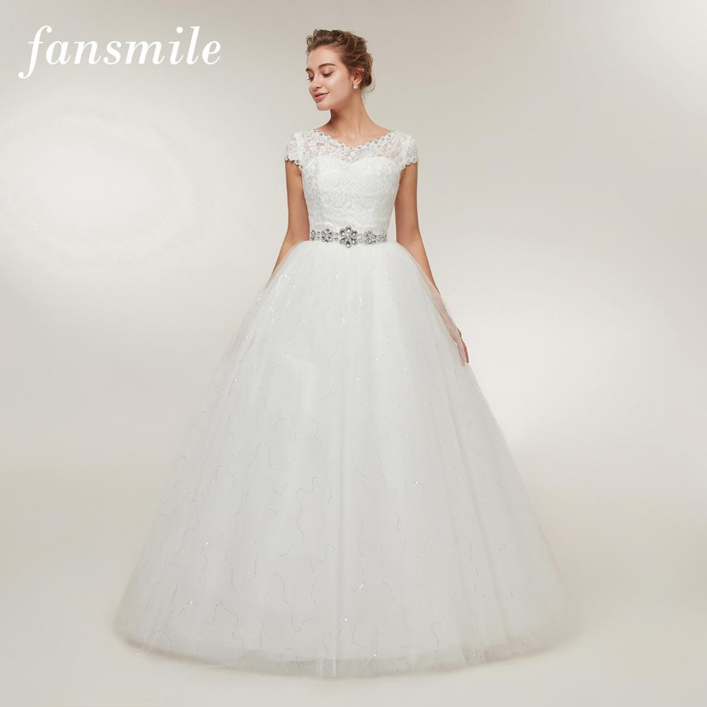 Fansmile Korean Lace Up Ball Gown Quality Wedding Dresses 2017 Alibaba  Customized Plus Size Bridal Dress ... 1c38797d219a