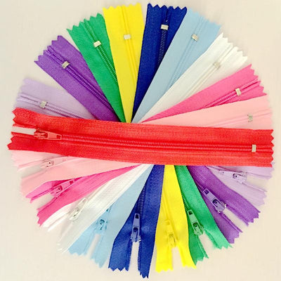 - 100pcs 15/20/25/30cm 3# Colorful Closed End Nylon Coil Zippers Tailor Sewing Craft -   jetcube