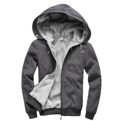 - (Plus Size M-4XL)2016 High Quality Wool Liner Men's Hooded Parkas Men With Thick Keep Warm Coats Winter Men Hoodies -   jetcube