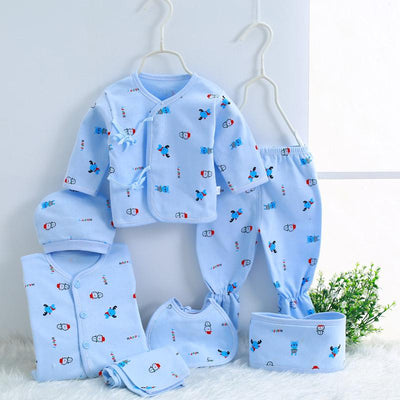 - 0-3M Newborn Infant Baby Girls boys Clothes Long-sleeved shirt,pants,hat,scarf 7pcs 5pcs Outfit Kids Clothing Set Factory cheap - 06 / 3M  jetcube