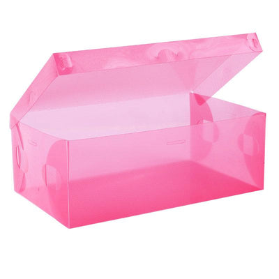- 10 PCS Eco-Friendly Shoe Storage Box Case Transparent Plastic Storage Box Rectangle PP Shoe Organizer Thickened drawer Shoe Box -   jetcube