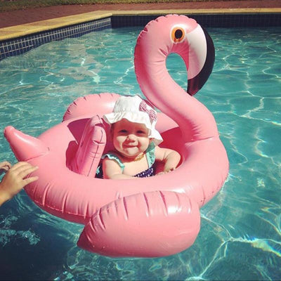 - 0-4 Years Old Flamingo Baby Seat Float Swimming Pool Party Swimming Ring Children Swimming Pool - Pink  jetcube