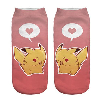 - % New Arrival Kawaii Harajuku Pokemon Pikachu Socks 3D Printed Cartoon Women's Low Cut Ankle Socks Novelty Casual Socks Meias D - sxa90399 / One Size  jetcube