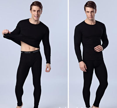 2017 Autumn and Winter Warm Men Long Johns Sets Solid Thick Double Layer Velvet Cotton Thermal Underpants Male Underwear M-XXL