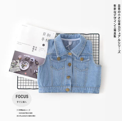 - 0-3 years Wholesale 2018 Kids Spring Denim Baby Vest (pick size)84TP0103 - Default Title  jetcube