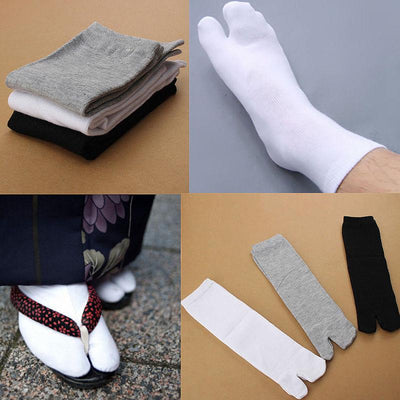 - 1 Pair Fashion Japanese Kimono Flip Flop Sandal Split Toe Tabi Ninja Geta Socks Hot Sale Drop Shipping 2017 New Arrival -   jetcube