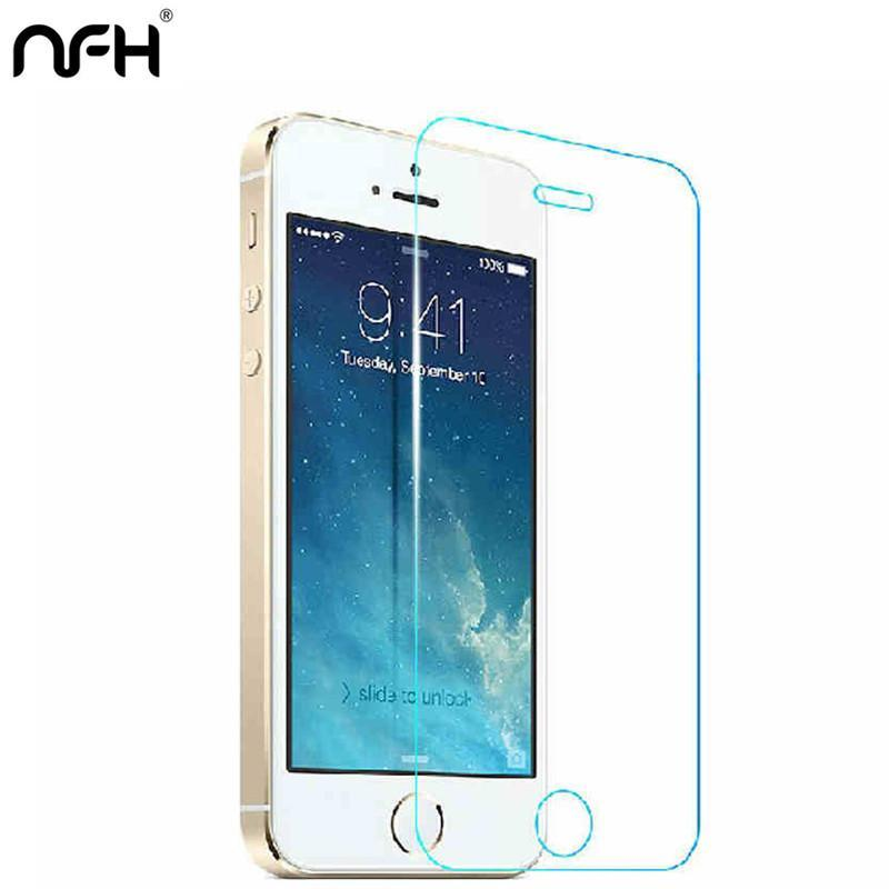 - 2.5D 0.3mm Premium Tempered Glass Screen Protector for iPhone 5C Toughened protective film For iPhone On 5S SE 6s 6 7 8 plus X -   jetcube