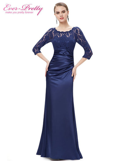 Evening Dresses He09882 Ever Pretty Elegant 34 Sleeve Lace Long