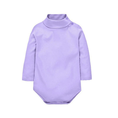 - 12 Color Baby Clothes 0-24M Newborn baby boy girl clothes Jumpsuit Long Sleeve Infant Product solid turtleneck Baby Rompers - Lavender / 12M  jetcube