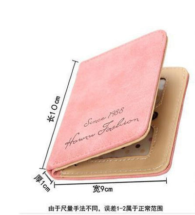 - (1pcs) Wallets and Purses Women Leather Genuine Small Famous Brand for Credit Cards Cards Holder Clutch Fashion Standard Wallet -   jetcube