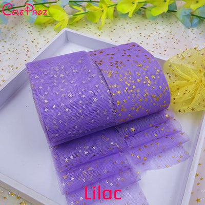 - (25Yards/Lot) 6cm Star Tulle Confetti Glitter Tulle Mesh Roll Spool Tutu Pom Soft Squine Tulle DIY Wedding Birthday Decoration -   jetcube