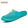 2017 Summer Slippers Men Fashion Hollow Out Breathable Sandals Unisex Lovers Casual Beach Shoes Flat Flip Flops zapatillas