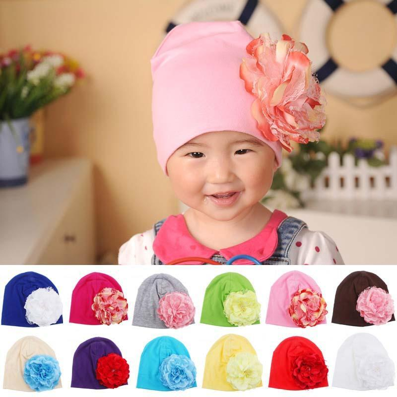 Baby Flower Hat Newborn Girl Cotton Beanie Cap Peony Flower Infant Spring Hat Children Accessories Retail SW057  UpCube- upcube
