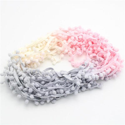 - 2*2y 7mm Width Pompom Ball Trims 2*2y/pack 17010704(7D4y) - Mixed Colors 4  jetcube