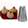 - #9FT Big Size Stainless Steel Cake Decorating Pastry Nozzles Icing Piping Tips Bakeware Kitchen Tools KH115 -   jetcube