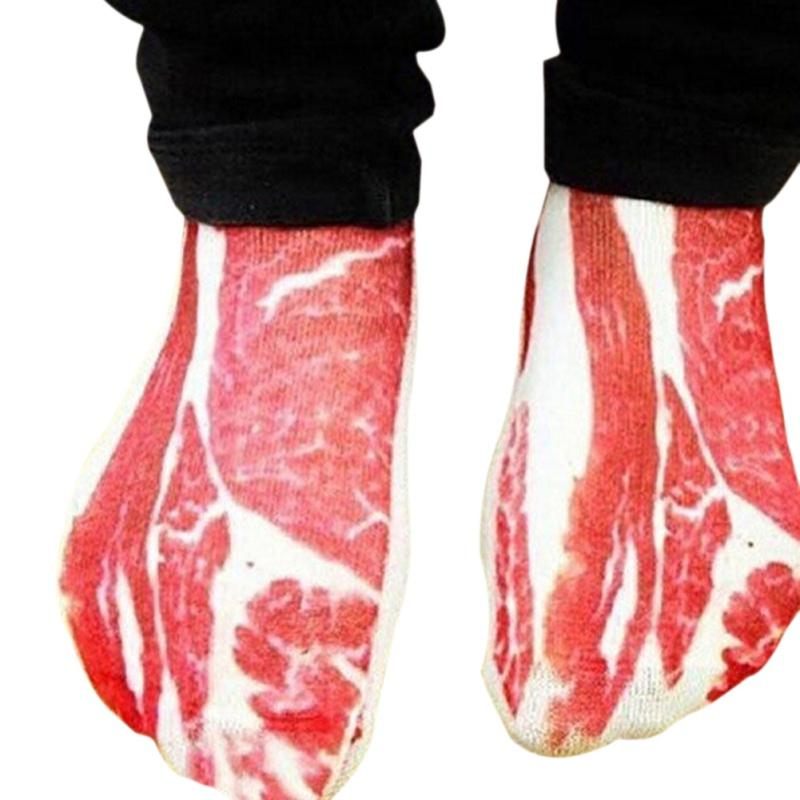- 1 Pair 3D Meat Bone Socks Boat Socks Diverse Patterns Creative Personality Comfortable Sock New Design Popsocket -   jetcube