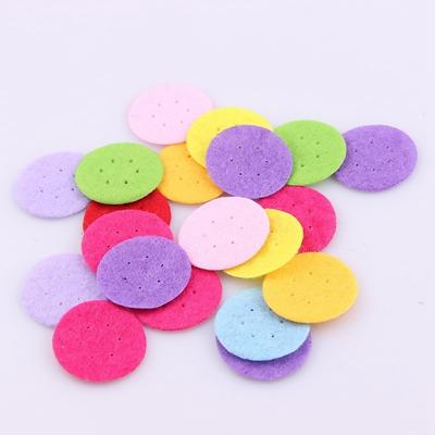 - 100 PCS DIY 20/25/30mm Mix Color Round Felt fabric Pads Accessory Patches Circle Felt Pads Fabric Flower Accessories - 25MM with hole  jetcube