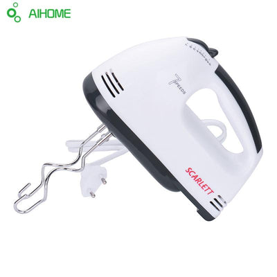 - 180W Egg Beater Electric Mixer Hand Mixer Stainless Steel Egg Beater 7 Speeds Control With 2 Powder Bar EU Plug -   jetcube