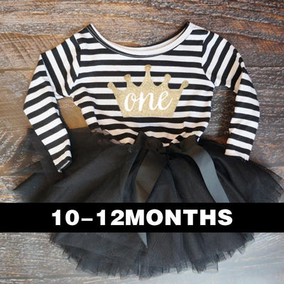 - 0-2 Years Baby Princess Girl Dress One Piece For Toddler Girl Clothing Stripe Tutu Dress Children Casual Dresses Infant Clothes -   jetcube