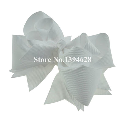 - $1/1PCS 5 inches 3 Layers Solid White Bows With 6cm Clips Boutique Ribbon Bows For Girls Hair Accessories -   jetcube