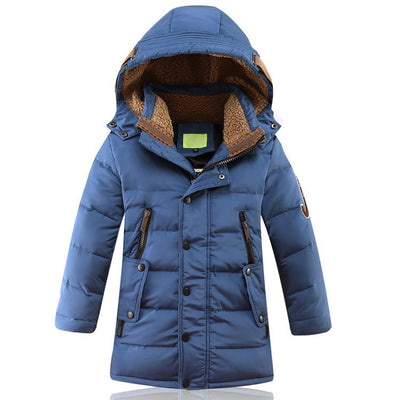 - -30 Degree Children's Winter Jackets Duck Down Padded Children Clothing 2018 Big Boys Warm Winter Down Coat Thickening Outerwear - Blue / 10  jetcube