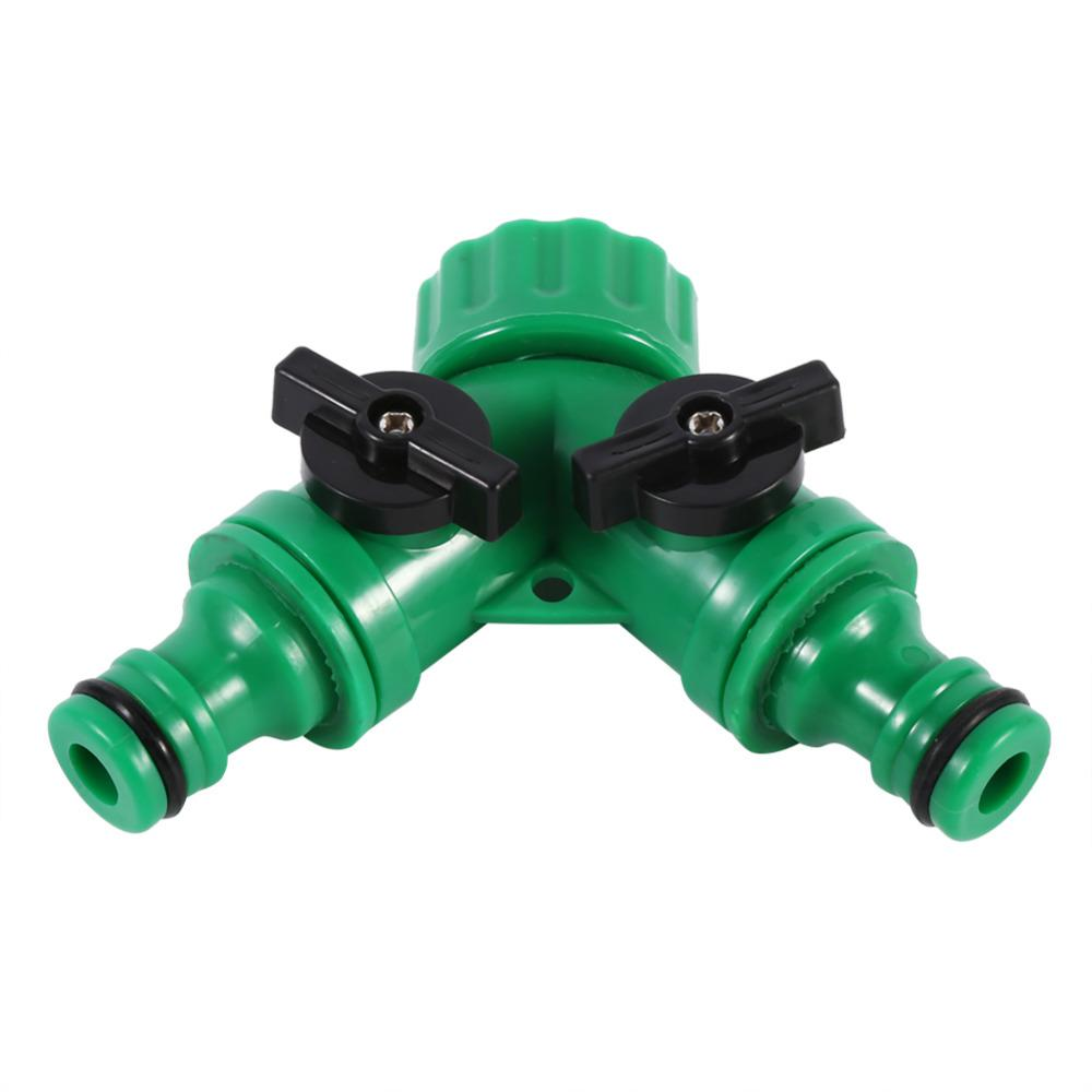 Plastic Hose Pipe Tool 2 Way Adapter Y Connector Adaptor Switch Fitting Garden Jetcube